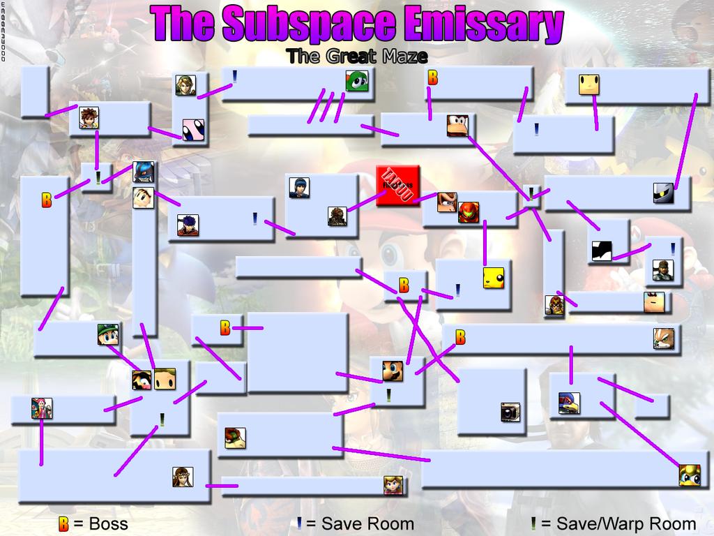 Subspace Emissary Mapa